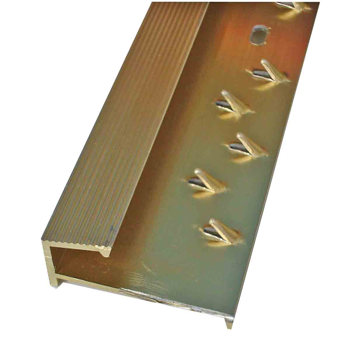 Square Carpet Tile Edge Gold Door Trim