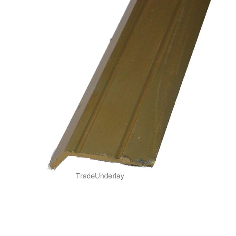 Incroyable Laminate Stick Down Ramp MATT Gold Floor Trim 2.7mtr Long