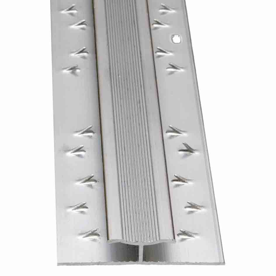 Buy Carpet To Carpet Twin Grip Matt Silver Door Trim 2 7