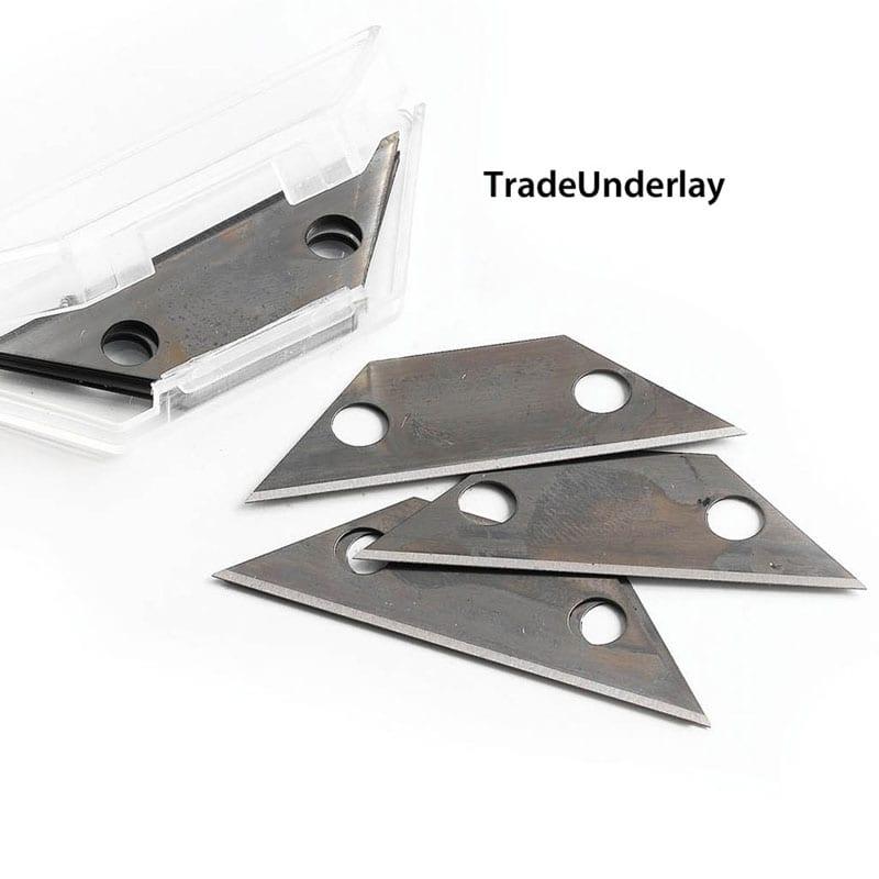 Buy Loop pile blue carpet cutter blades x 100 - TradeUnderlay.com