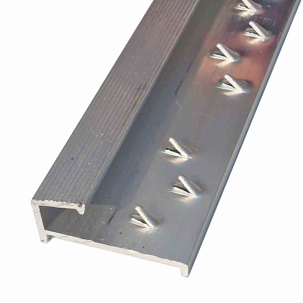 Buy Square Carpet Tile Edge Silver Door Trim X 2 7 Mtr