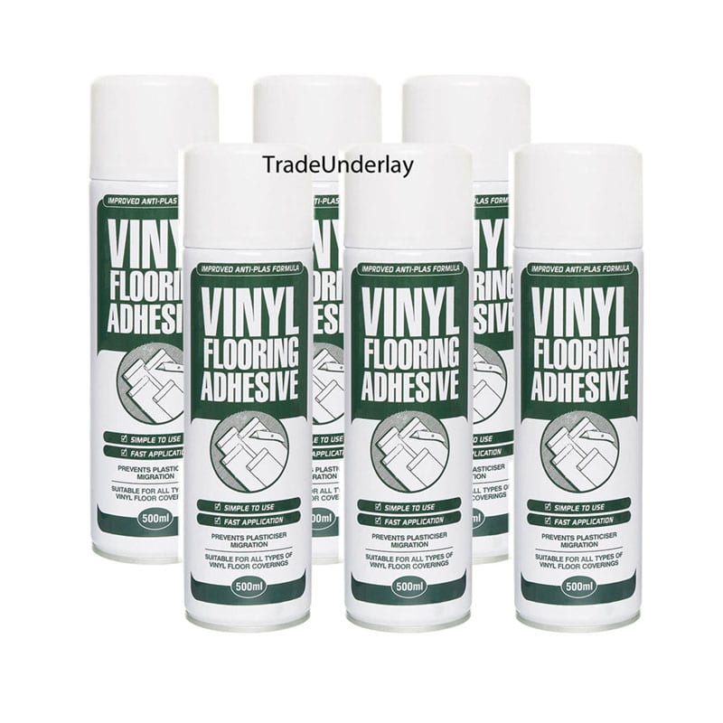 Vinyl flooring spray adhesive - 6 x 500ml