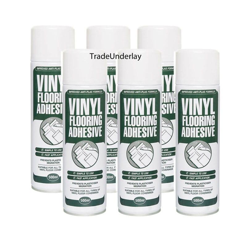 Buy Vinyl flooring spray adhesive - 6 x 500ml - TradeUnderlay.com